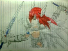 Erza Scarlet - Ceslestial Armor by Icantdrawhands