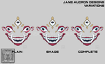 Sticker Design - Eyes of Madness: Red and Gold by Jane2Audron