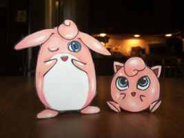 Jigglypuff and Wigglytuff Paperdoll Commission by About12Kittens