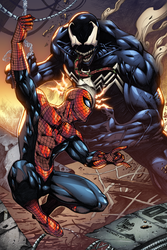 Spiderman vs Venom Colors by MARCIOABREU7
