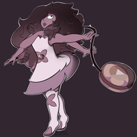 Smoky Quartz - Rose/Amethyst by redfenna