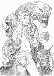 Witchblade / Darkness Pencils by bedtime143