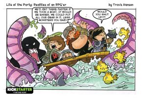 the kraken and boat safety - RPG-Party by travisJhanson