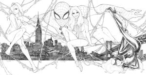 Spider-Man and His Ladies by sorah-suhng