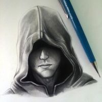 Hood Drawing Study by LethalChris
