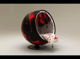 Ball chair Bloody version by djreko