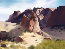 Rocks and Sand - Landscape Study by Aliciane