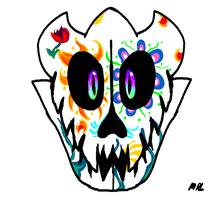Day of the dead - gaster blaster by CaPrIcOrNbReAd