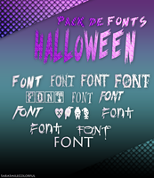 +FONTS: Halloween by SaraSmileColorful