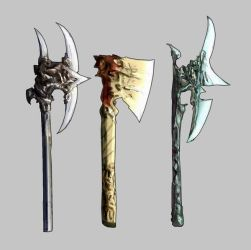 Weaponry set 99 axes by Random223