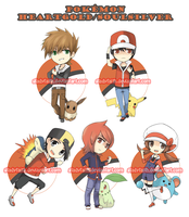 Pokemon trainer keychains