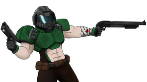 Doom Guy  (nobackground) by Dynamo07X