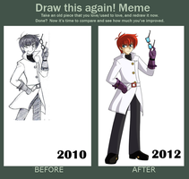 Draw this again! Meme by voltictail