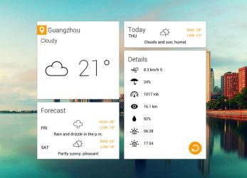 Shallow Weather for xwidget by Jimking
