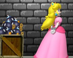 Princess Peach Tape Bound and Gagged by Goldy0123