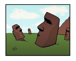 Easter Island by Lulie