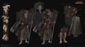 Total War: Warhammer Concept Art - Grey Wizard by telthona