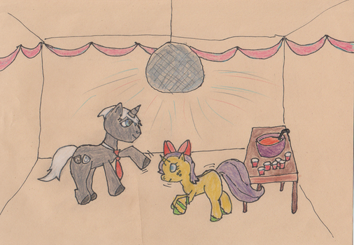 Charade and Flowerdust boogie down! by PonyCharade