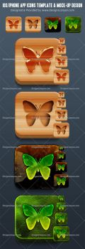 Creative-PSD-iPhone-app-Icons-template-and-Mockup by DesignsCanyon