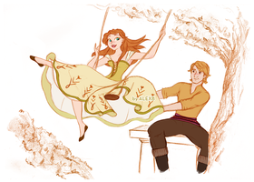 Disney's Frozen - Anna and Kristoff - The Swing by alexanderbim