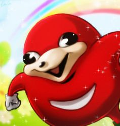 Knuckles the Echidna by Esther-Shen
