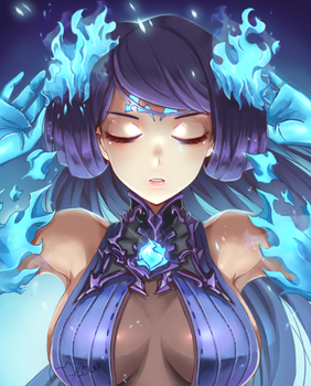 Xenoblade Chronicles 2 Brighid by MeowYin