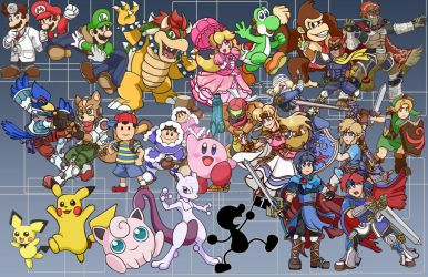 Chibi Smash Bros Melee! by yoshimarsart
