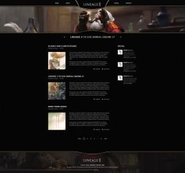 Lineage 3 Online Fansite Redesign by xDrac