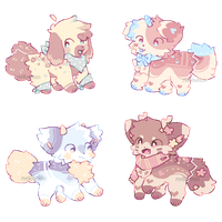 + tiny fluffs || adopt auction (closed) + by MellowKun
