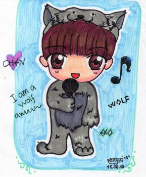 Chen-WOlf (EXO) by cutekawaii96