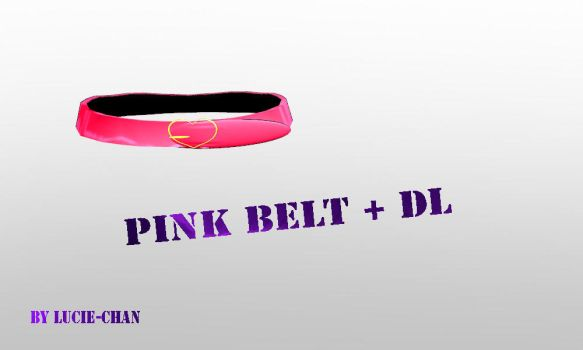 MMD Pink belt + dl by Lucie-Chan