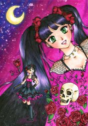 Redraw from Gothic love pink by MessiahDeath