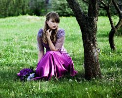 girl with lilac by justina-m