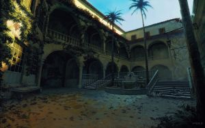 Mexican Courtyard by Benef