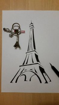 Eiffel Tower - Pray for Paris by RedM0809