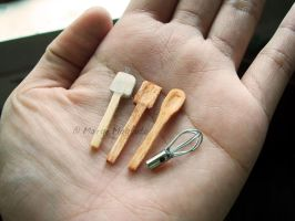 Miniature Cooking Utensils by margemagtoto