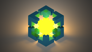 ''Tesseract'' Voxel Wallpaper by IAmPuzzlr