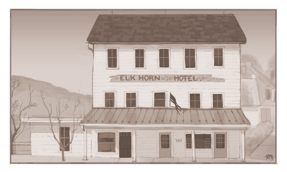 Elkhorn Inn  (Commission) by prettypunkae