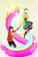 Star and Marco by AtKri