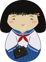 Kokeshi School Girl by thedustyphoenix