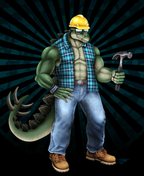 Bill the Stego Construction Worker by DragonosX