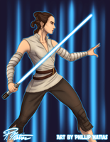 Rey training by BW-Straybullet