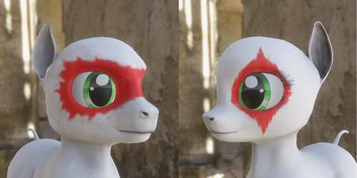 FO:E Face Paints, Eye smudges by Poninnahka
