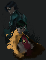 From Robin to Nightwing by anemi-j