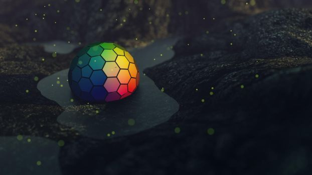 Hexagon Sphere 5k 5120x2880 by tripiatrik
