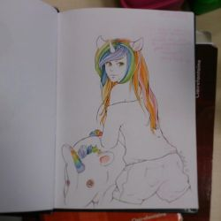 Conhon Rainbow girl by uniquorned