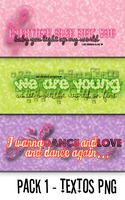 Pack 1 Textos PNG by SincereApology
