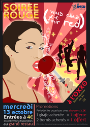 Poster RedParty - Soiree Rouge by sakenplet