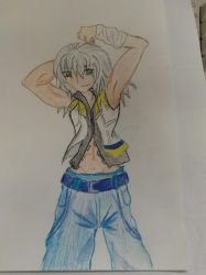 Ooh, Riku, what big biceps you have by Minibobini