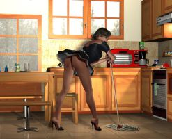 Liliana Maid in Kitchen by sub542